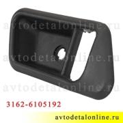 Облицовка ручки двери УАЗ Патриот внутренняя, правая накладка на обшивку, 3162-6105192