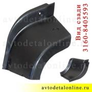 Накладка на пороги УАЗ Патриот резиновая 3160-8405593 задняя, левая на край подножки