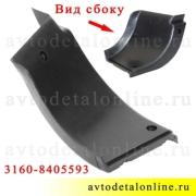 Накладка подножки УАЗ Патриот резиновая 3160-8405593 на задний, левый порог