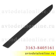 Накладка порога УАЗ Патриот с 2015 г, защитная облицовка подножки, 3163-8405161 левая