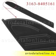 Пластиковая облицовка порога УАЗ Патриот 2015 г, левая защитная накладка подножки 3163-8405161