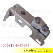 Левый кронштейн УАЗ Патриот для крепления надставки облицовки радиатора (реснички) 3163-10-8401041