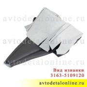 Чехол КПП УАЗ Патриот на рычаг, до 2009 г, 3163-5109120