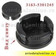 Фото вида снизу пробки-заглушки вкладыша обшивки дверей УАЗ Патриот 3163-5301245-04