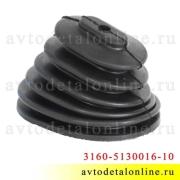 Пыльник КПП УАЗ Патриот 2005-2007 г., резиновый 3160-5130016-10