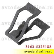 Фиксатор облицовки УАЗ Патриот 3163-5325188, клипса крепления панели приборов, металл