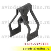 Крепление облицовки УАЗ Патриот с мая 2012 г, 3163-5325188 фиксатор панели приборов, металлическая скоба