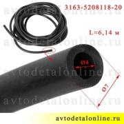 Трубка омывателя УАЗ Патриот стекла двери багажника (задка), номер шланга 3163-5208118-20 черный, длина 6,14 м