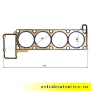 Espra прокладка головки блока Патриот УАЗ Евро-3 с ЗМЗ 409, 405, замена 40624.1003020