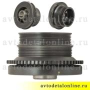 Демпфер-шкив коленвала Патриот УАЗ, 406.1005050-60 установка на двигатель 409, Прогресс