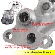 Фланец масляного насоса УАЗ Патриот 409-1011010-02 для двигателя 409-ЗМЗ