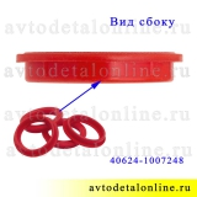 Прокладка свечного колодца 406, 409, 405 ЗМЗ УАЗ, ГАЗ, для крышки клапанов, красный силикон 40624-1007248