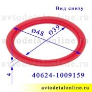 Размер прокладки крышки маслозаливной ЗМЗ-409 и др Евро-3, 4 УАЗ, ГАЗ, красный силикон, Ростек 40624-1009159