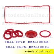 Набор прокладок клапанной крышки ЗМЗ-409, 406, 405 Евро-3 УАЗ, ГАЗ, силикон Rosteco