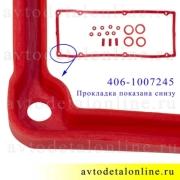 Прокладки клапанной крышки ЗМЗ-409, 405, 406 Евро-2 Rosteco 406.1007245 и 406.1007248, 406.1007243, 406.1014187