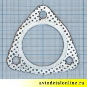 Прокладка между глушителем и резонатором 3151-1203088, треугольная, УАЗ-469, Патриот 3160, Хантер, Буханка