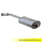 Глушитель УАЗ Патриот Евро-3 с 2008г, нержавейка  с гофрой