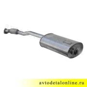 Глушитель УАЗ Патриот Евро-3,4 с 2008г, нержавейка  с гофрой