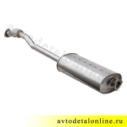 Фото глушитель УАЗ 3163 Патриот, Евро-4,3 нержавейка, с гофрой под электрическую РК, 3163-1201010-11, Баксан