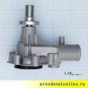Размер водяной помпы 406 двигателя ЗМЗ на ГАЗ, УАЗ производство АДС, замена насоса 4061-1307010-10