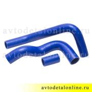 Комплект силиконовых патрубков УАЗ Патриот Евро-2, номер 31608-1303010 и 3163-1303027 и 31601-1303022, фото