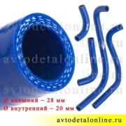 Ремкомплект силиконовых патрубков печки Патриот УАЗ до 2012 года, комплект на замену шлангов отопителя