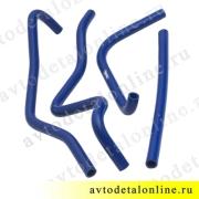 Патрубки печки УАЗ Патриот после 2012 г, силиконовые к-т 4 шт, Балаково