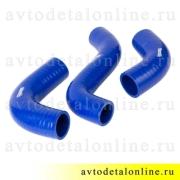 Патрубки радиатора ГАЗ-31105 дв. Крайслер, силикон Технопартнер 3302-1303023, 3302-1303025-10, 3302-1303026
