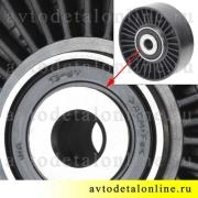 Обводной ролик натяжителя УАЗ 409-ЗМЗ Патриот INA 532-0512-10 без крепежа, аналог 406.1308080-30
