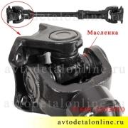 Передний карданный вал УАЗ Хантер, Патриот, размер 600/655 длина по фланцам, номер кардана 3160-10-2203010-00