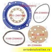 Ремкомплект поворотного кулака УАЗ Патриот, манжета полиуретан + прокладки