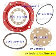 Ремкомплект поворотного кулака УАЗ Патриот, манжета полиуретан + прокладки, Rosteco