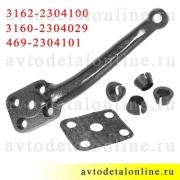 Рычаг поворотного кулака УАЗ Патриот, Хантер 3162-2304100 + сухари + покл. Ваксойл, Бийск