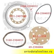 Ремкомплект поворотного кулака УАЗ Патриот, сальник (манжета) полиуретан + прокладки