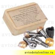 Шкворни Ваксойл на УАЗ в комплекте с бронзовыми вкладышами стар. образца + ключ, 3163-2304019-01