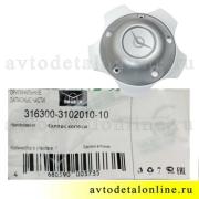 Декоративный колпак колеса УАЗ Патриот 3163-00-3102010-10, штатный на литой диск, глухой