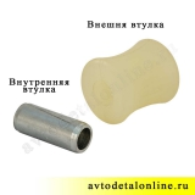 Втулка крепления амортизатора УАЗ Патриот, Хантер, нижняя, полиуретановая, фото, 3160-2905432, купить замену