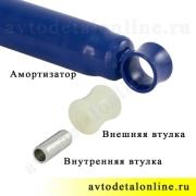 Втулка полиуретановая под амортизатор задний и передний УАЗ Патриот, Хантер, замена резиновой 3160-2905432