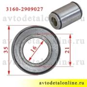 На фото размер сайлентблока передней подвески УАЗ Патриот и др. для замены в поперечной тяге 3160-2909027-01