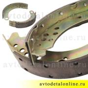 Задние тормозные колодки Патриот УАЗ комплект из двух 3163-3502088 и 3163-3502089 нового образца