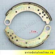 Размер тормозных колодок задних УАЗ Патриот нового образца 3163-3502088 и 3163-3502089 в наборе