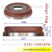 Диаметр тормозного барабана УАЗ Патриот, Хантер, Буханка 3151-3501070