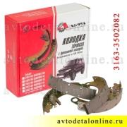 Колодки тормозные задние УАЗ Патриот 3163-3502082=3163-3502088+3163-3502089+3151-3501090, к-т 4 шт