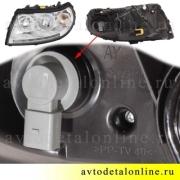 Выпуск 2005-2014 г. Патриот УАЗ фара передняя левая с ДХО, номер 3163-3711011-10, ALRU.676512.005