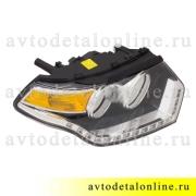 Блок фара правая УАЗ нового образца, Патриот 2015 с ДХО, номер 3163-3711010-20