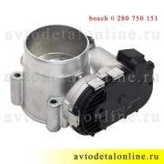 Дроссельная заслонка УАЗ Патриот с ЗМЗ 409, bosch 0 280 750 151