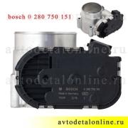 Дроссельная заслонка УАЗ 409 ЗМЗ на Патриот Евро-3, Евро-4, номер дросселя bosch 0 280 750 151