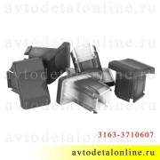 Общий вид заглушки клавиши УАЗ Патриот 3163-3710607 на панели кнопок 992-3710-111