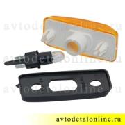 Боковой указатель поворота Патриот УАЗ 3163-3726010, дополнительный желтый поворотник на крыло