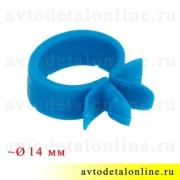 Скоба крепления проводов универсальная, хомут пластиковый, диаметр ~ 14 мм, синий